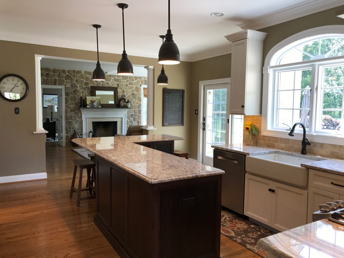 Kitchen Island with Chairs