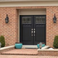 beautiful black front door
