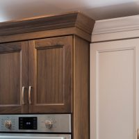 beautiful cabinets above stove