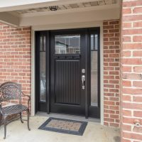 black siding door