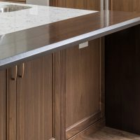 cabinets underneath bar