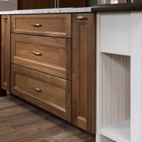 closed kitchen island cabinet