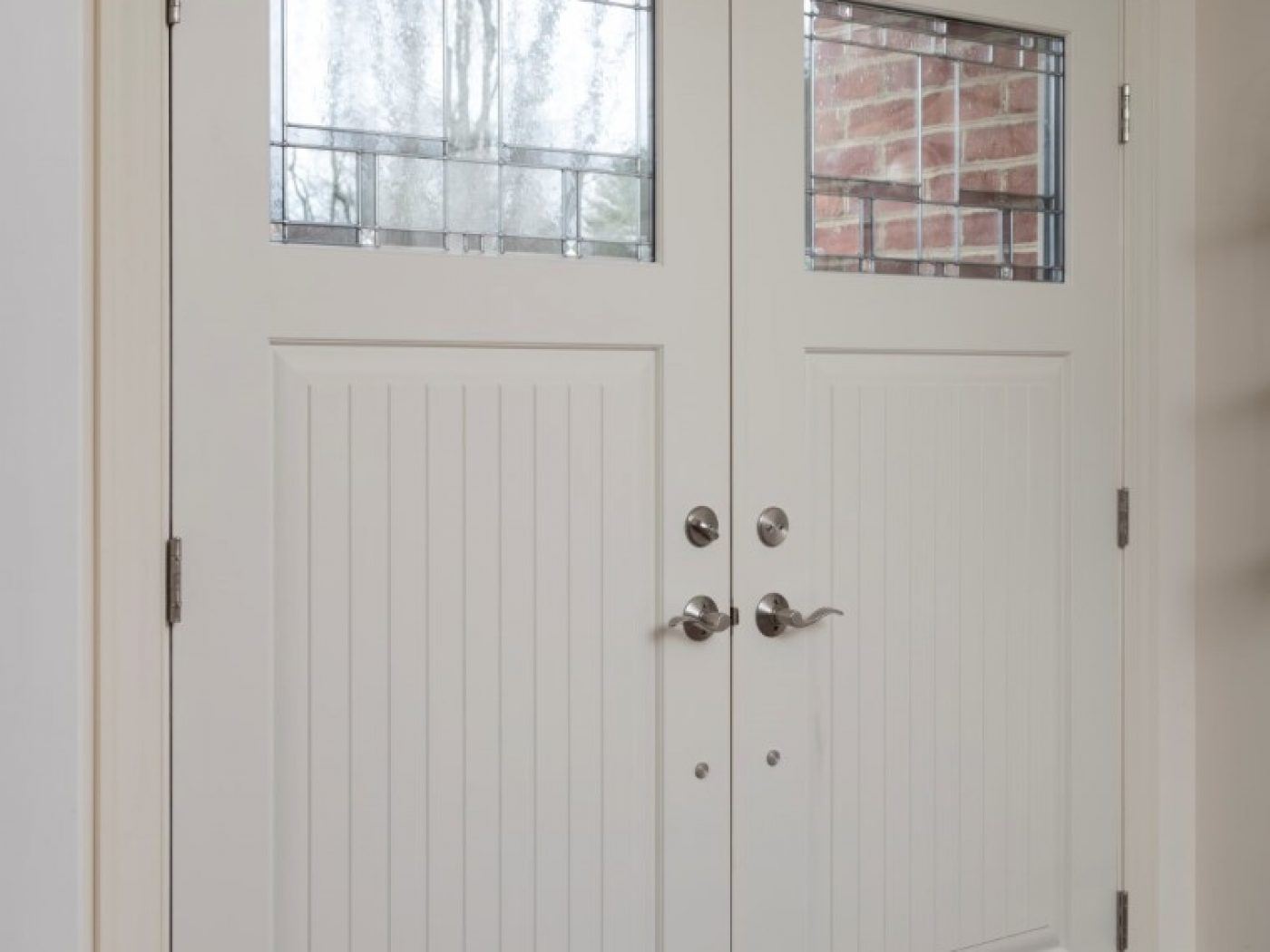 double doors into home