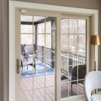 double glass window door