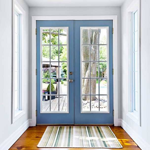 Colorful Accent Interior Patio Doors