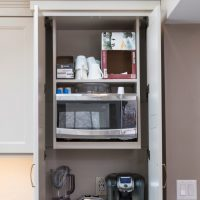 open kitchen cabinet
