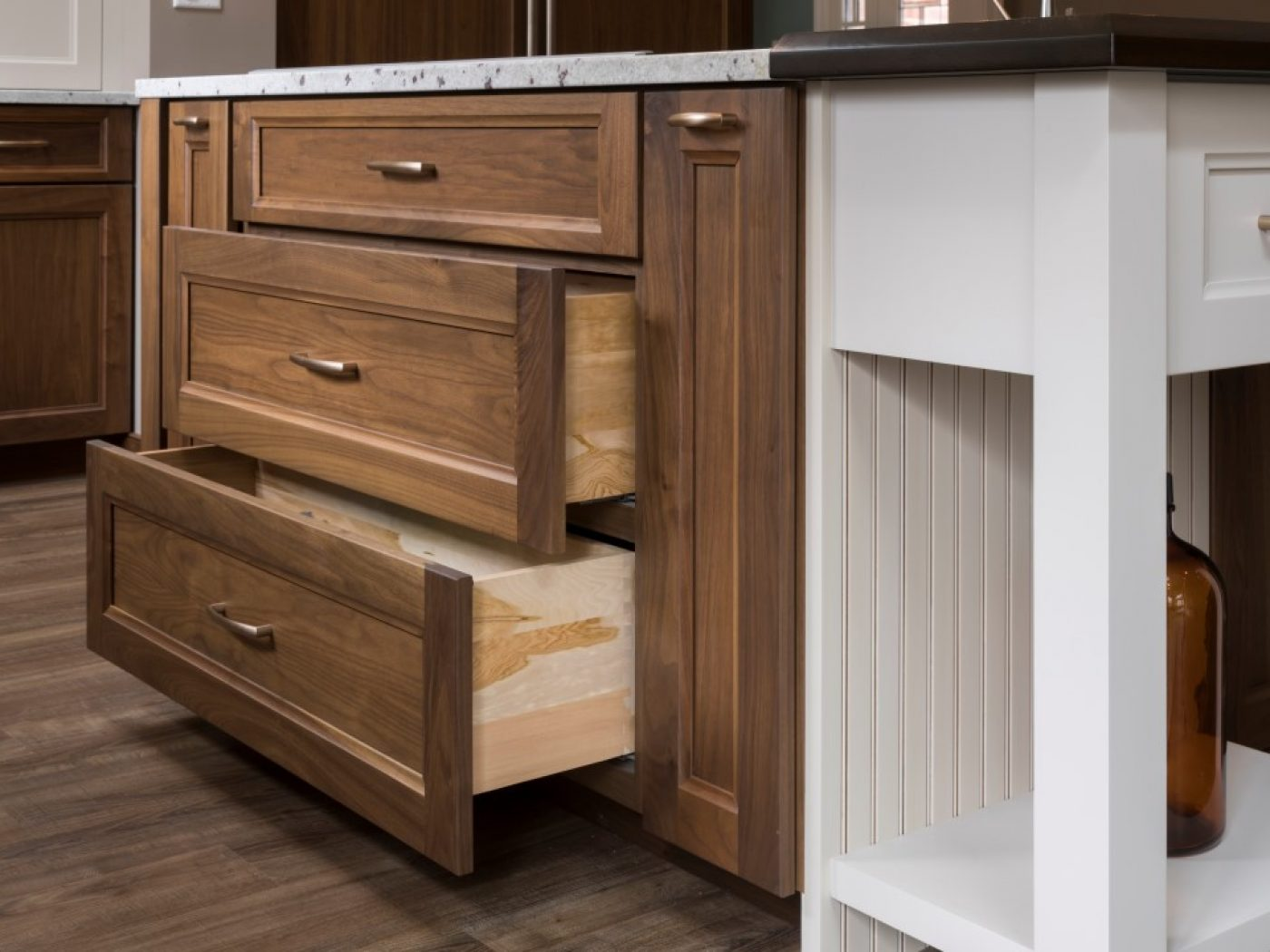 open kitchen island cabinet