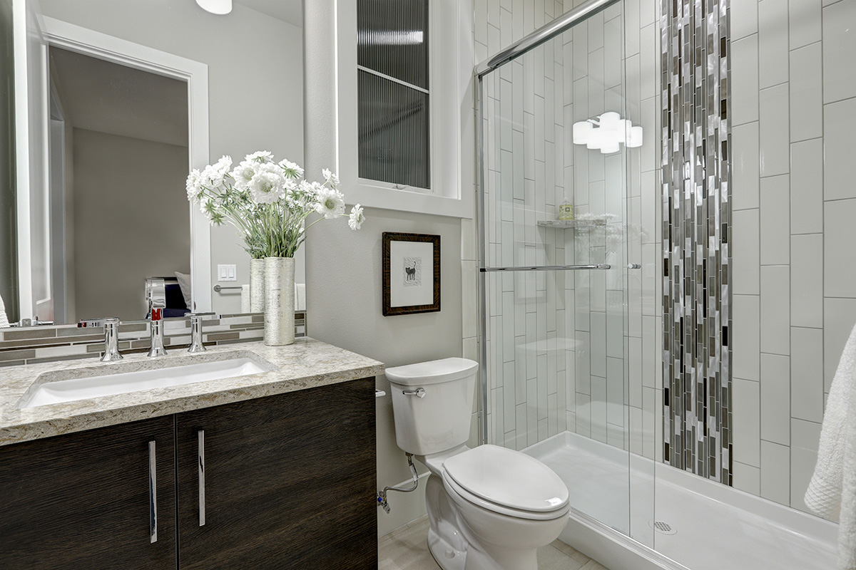 Master Bathroom with Modern Walk-In Shower