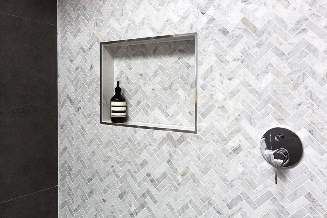 Built-in Storage Shelf in Shower