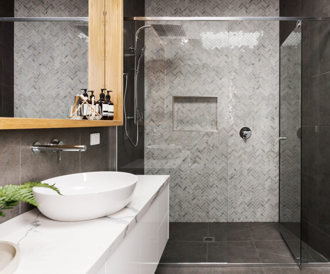 Modern Tiled Walk-In Shower