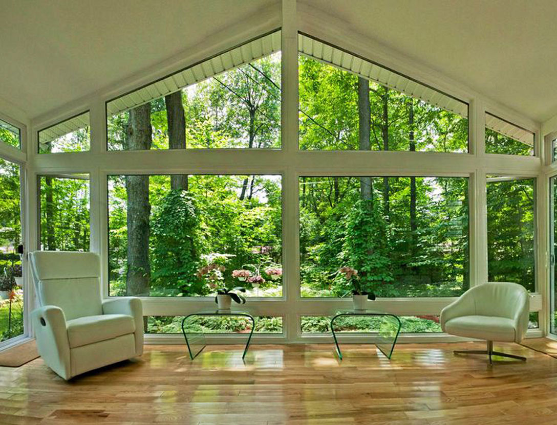 Inside 4-season sunroom