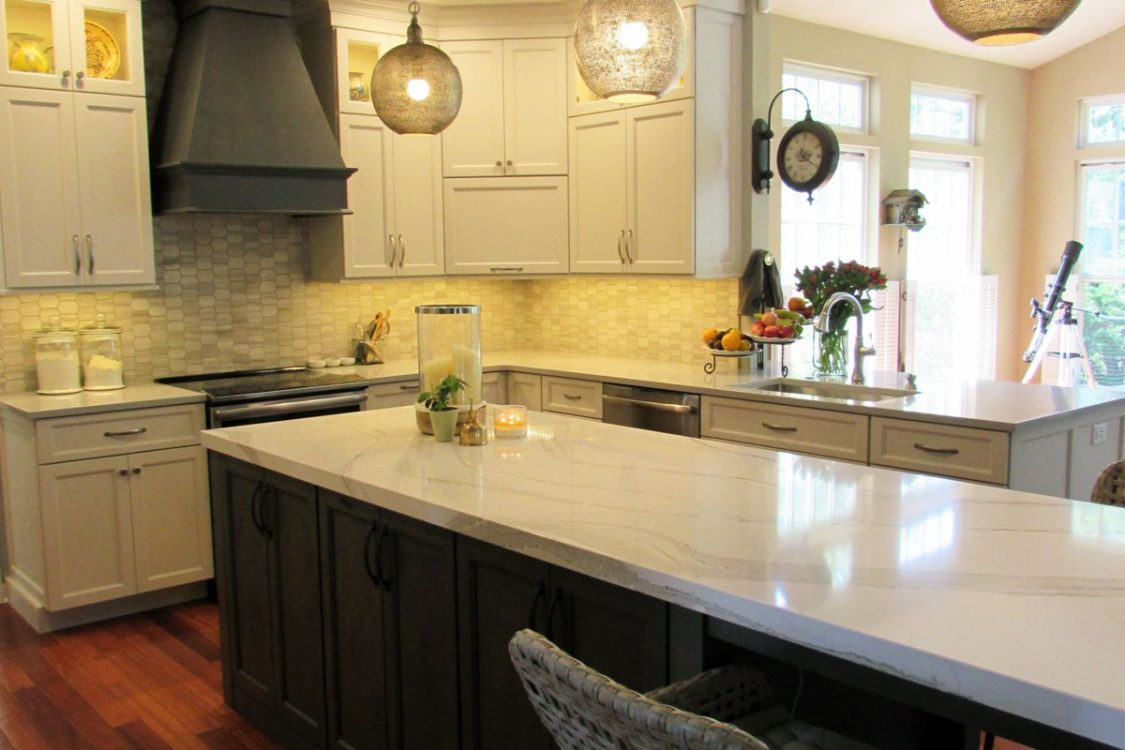 Custom cabinets in custom modern kitchen