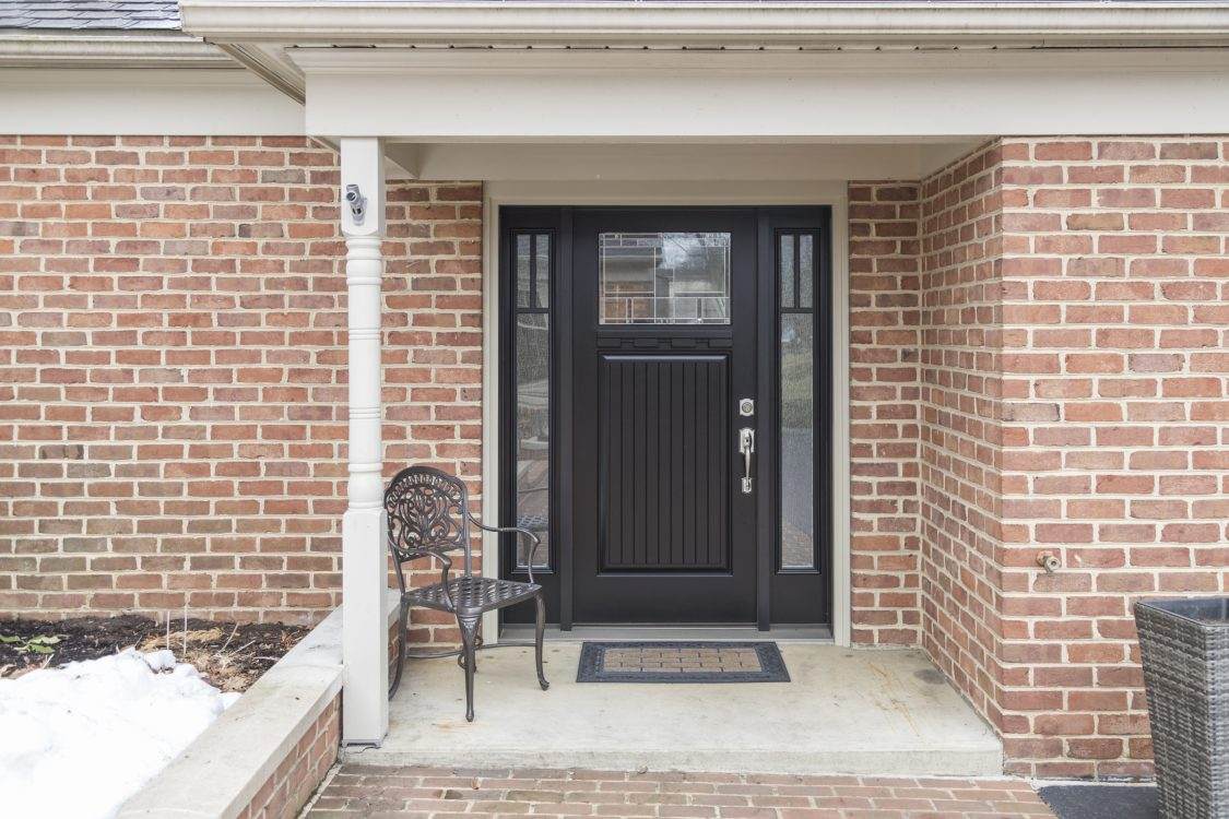 Remodeled brick entry way lancaster