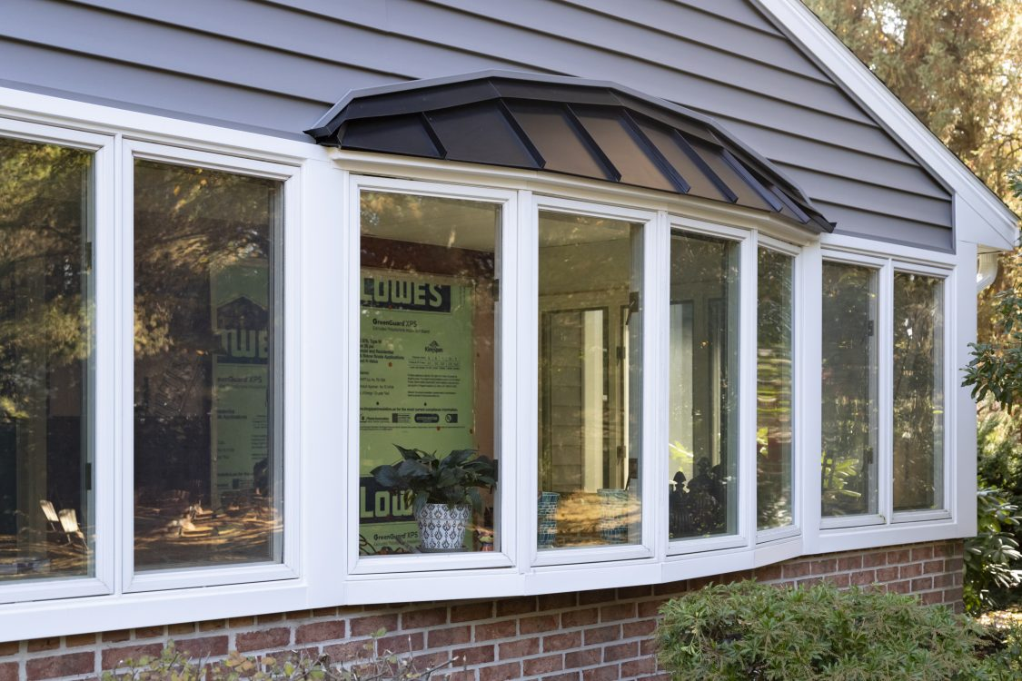 Outdoor remodeled windows
