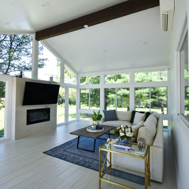 Modern white sunroom inspiration