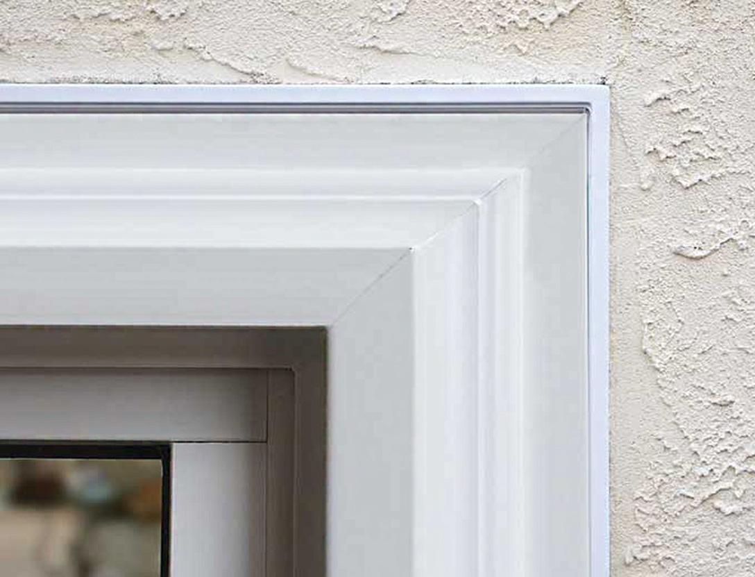 vinyl window exterior stucco