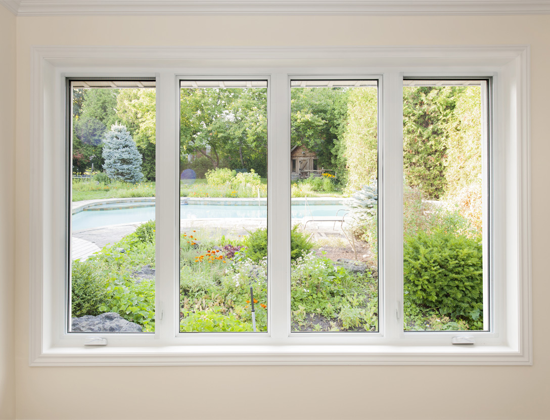 Casement window in home