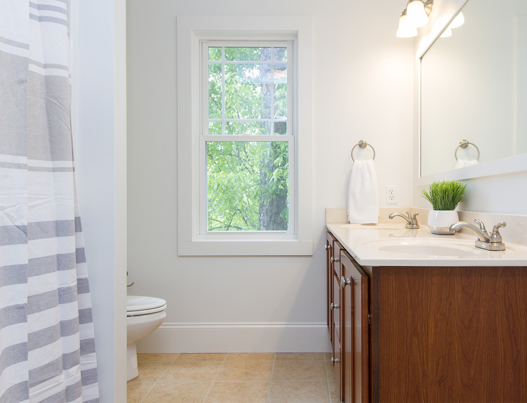 Small bathroom single home window