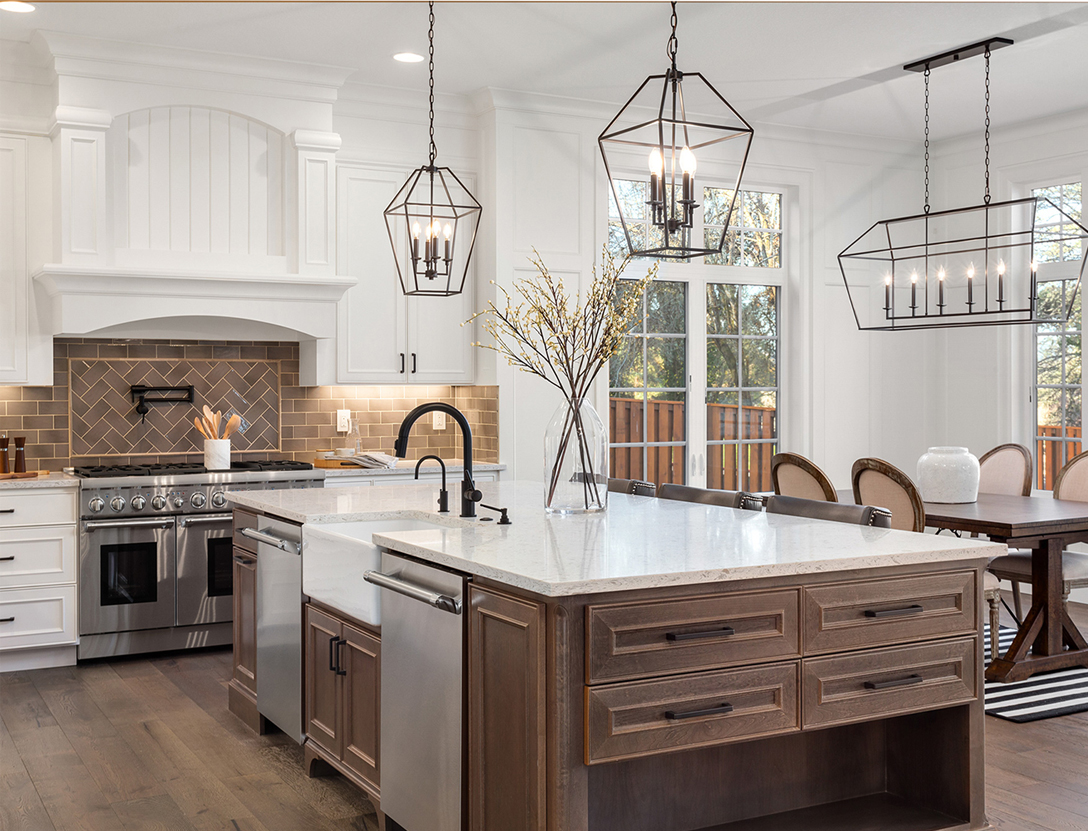 Popular kitchen renovation with white cabinets