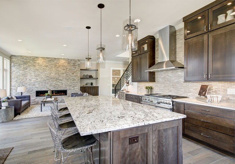 Modern rustic kitchen with Quartz countertop