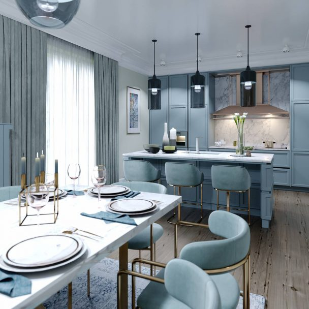 Modern kitchen color on trend in 2021