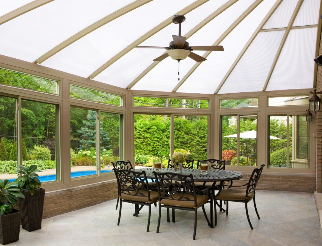 Poolside sunroom idea